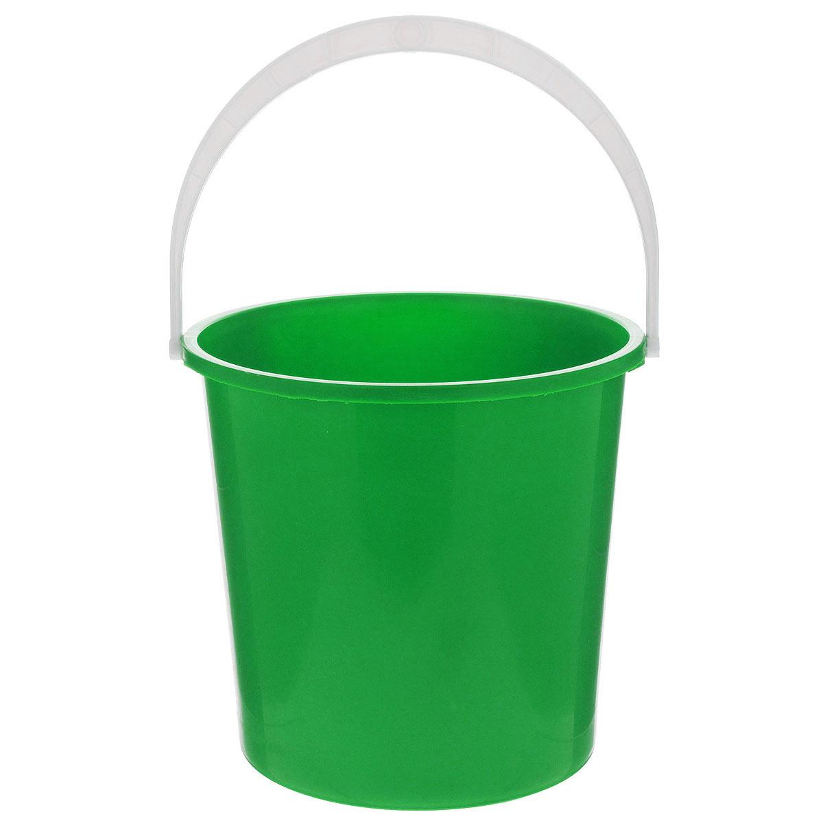 Ведро Альтернатива Крепыш, цвет: зеленый, 5 лК340_зеленыйВедро Альтернатива Крепыш изготовлено из высококачественного одноцветного пластика. Оно легче железного и не подвержено коррозии. Ведро оснащено удобной пластиковой ручкой. Такое ведро станет незаменимым помощником в хозяйстве. Диаметр (по верхнему краю): 22 см. Высота: 20,5 см.