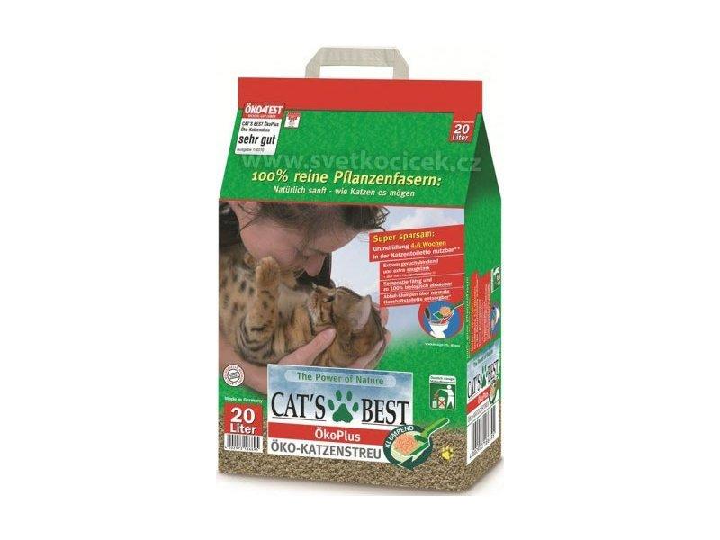 Cats Best Eko plus Наполнитель древесный комкующийся 20л*8,6кг