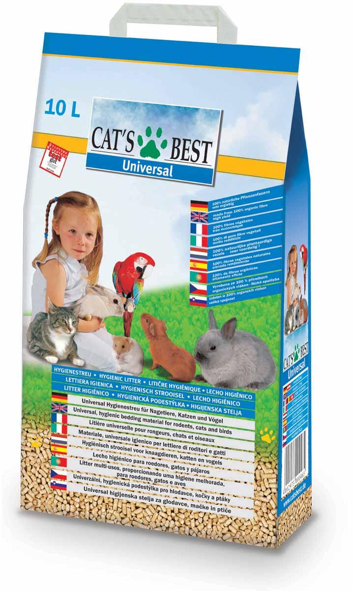 Cats Best Universal Наполнитель древесный впитывающий 10л*5,5кг26147Универсальная до гениальности насыпная подстилка- наполнитель: как оптимальное решение в уходе за многими видами домашних животных и птиц, даже если у Вас содержится несколько различных пород.