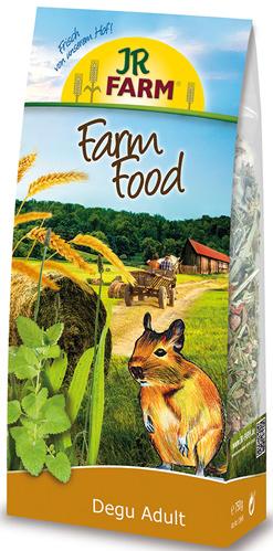 JR FARM 13645 Farm Food Adult Корм для дегу 750г36909Корм Adult для взрослых животных содержит все питательные вещества, витамины и минералы. В этот корм специально так же был добавлен зеленый овес и семена диких трав - любимое лакомство дегу.