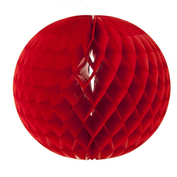 Новогоднее подвесное украшение Lunten Ranta Шар, цвет: красный, диаметр 25 см69455_1Декоративное подвесное украшение Lunten Ranta Шар оригинально оформит интерьер вашего дома. Изделие представляет собой красивый объемный шар, выполненный из бумаги. Легко собирается и скрепляется с помощью двустороннего скотча. Имеется петелька для подвешивания. Создайте в своем доме атмосферу веселья и радости, украшая его всей семьей новогодними украшениями, которые будут из года в год накапливать теплоту воспоминаний.