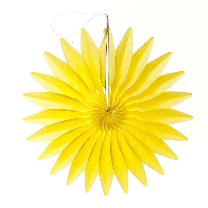 Новогоднее подвесное украшение Lunten Ranta Созвездие, цвет: желтый, диаметр 36 см69452_3Декоративное подвесное украшение Lunten Ranta Созвездие станет прекрасным и оригинальным украшением интерьера. Изделие представляет собой красивую объемную фигуру, выполненную из бумаги. Легко собирается и скрепляется с помощью двухстороннего скотча. Имеется петелька для подвешивания. Создайте в своем доме атмосферу веселья и радости, украшая его всей семьей новогодними украшениями, которые будут из года в год накапливать теплоту воспоминаний.