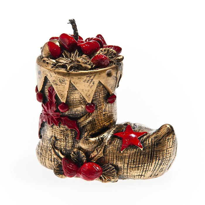 Свеча декоративная Новогодняя, красный, 5*7,5 см, парафин, дизайны в ассортименте65971_1Свеча декоративная - отличный подарок, подчеркивающий яркую индивидуальность того, кому он предназначается. Такая свеча украсит интерьер вашего дома или офиса в преддверии праздника. Оригинальный дизайн и красочное исполнение создадут праздничное настроение.