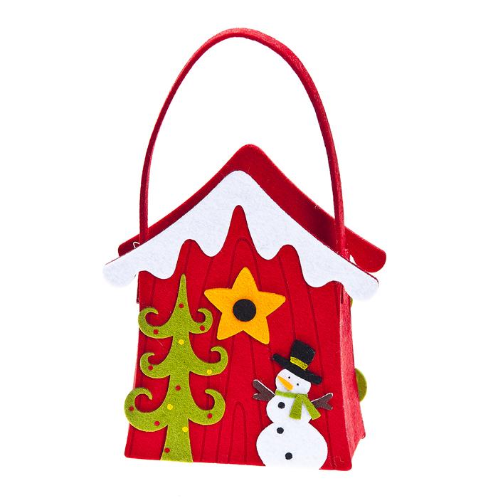 Декоративная корзинка Рождественский домик, цвет: красный, 19 х 14 х 7 см67743_1Декоративная корзинка Lunten Ranta Рождественский домик изготовлена из фетра. Изделие украшено оригинальными наклейками из фетра с удобной большой ручкой. Красивая корзинка станет милым сувениром на Новый год и порадует получателя. Может послужить как подарочная упаковка для подарка.