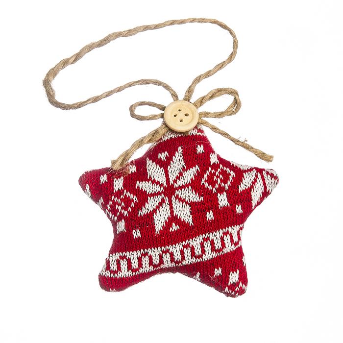 Новогоднее подвесное украшение Lunten Ranta Вязаный орнамент. Звезда67928_1Новогоднее украшение Lunten Ranta Вязаный орнамент. Звезда отлично подойдет для декорации вашего дома и праздничной ели. Изделие выполнено из полиэстера в виде вязаной звезды, декорированной оригинальным орнаментом, и оснащено текстильной петелькой для подвешивания. Елочная игрушка - символ Нового года. Она несет в себе волшебство и красоту праздника. Создайте в своем доме атмосферу веселья и радости, украшая всей семьей новогоднюю елку нарядными игрушками, которые будут из года в год накапливать теплоту воспоминаний.