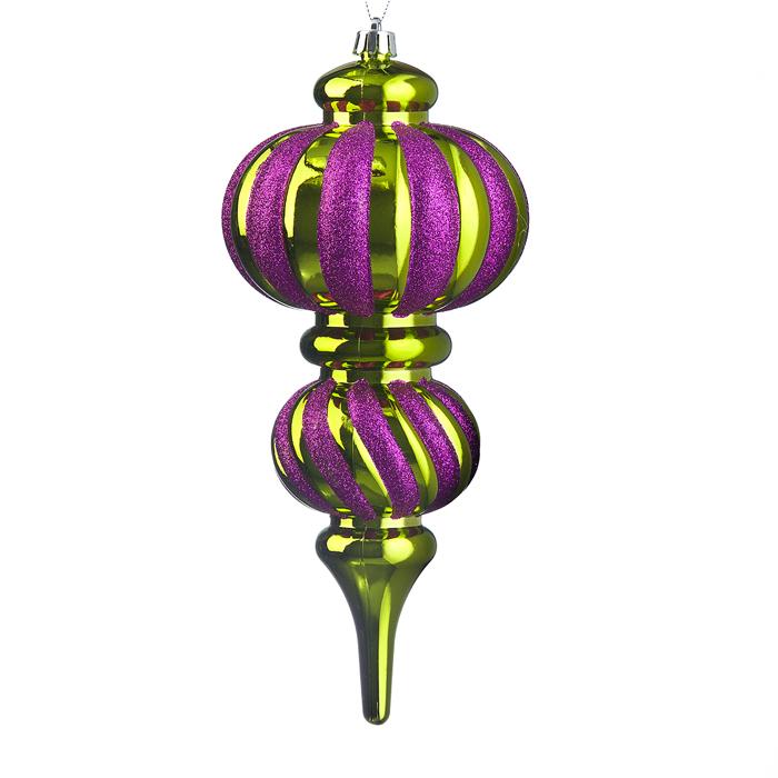 Новогоднее подвесное украшение Lunten Ranta Сосулька, цвет: фуксия, золотистый65929_6Новогоднее украшение Lunten Ranta Сосулька отлично подойдет для декорации вашего дома и праздничной ели. Изделие, выполненное из пластика, декорировано блестками и оснащено текстильной петелькой для подвешивания. Елочная игрушка - символ Нового года. Она несет в себе волшебство и красоту праздника. Создайте в своем доме атмосферу веселья и радости, украшая всей семьей новогоднюю елку нарядными игрушками, которые будут из года в год накапливать теплоту воспоминаний.