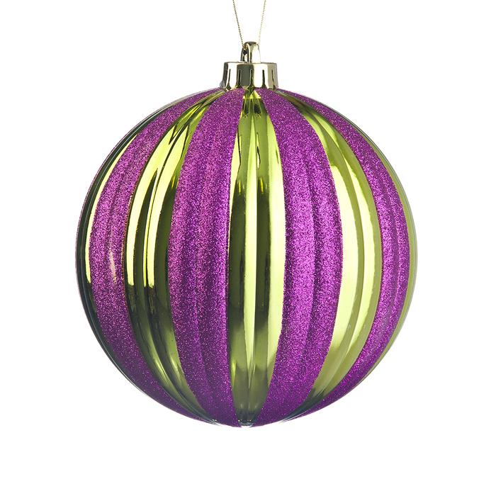 Декоративное украшение-подвеска Тыква, 15 см, пластик, фиолетовый65931_6Яркое, красивое, запоминающиеся декоративное украшение-подвеска Тыква замечательное украшение новогодней красавицы.