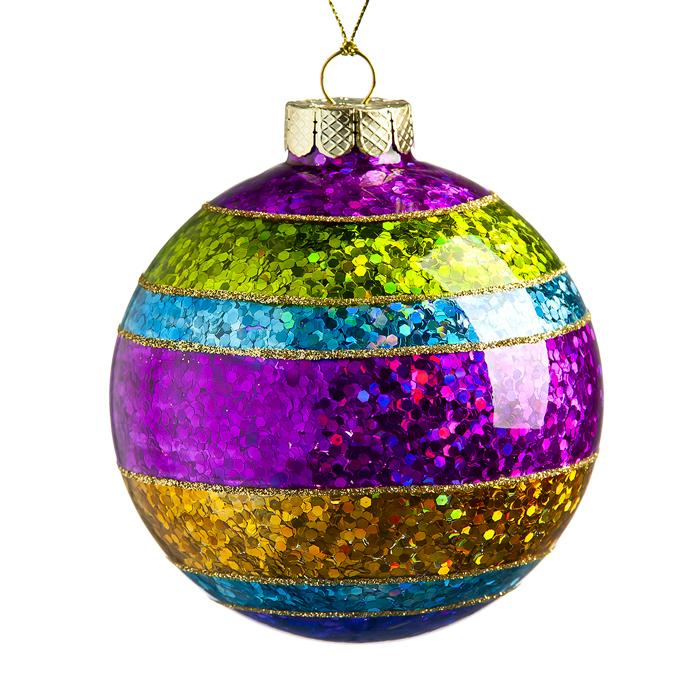 Новогоднее подвесное украшение Its a Happy Day Блеск, диаметр 8 см66549Подвесное украшение Its a Happy Day Блеск, выполненное из стекла, прекрасно подойдет для праздничного декора вашей ели. Оригинальное новогоднее украшение в виде шара оформлено разноцветными блестками. С помощью специальной текстильной петельки его можно повесить в любом понравившемся вам месте. Но удачнее всего такая игрушка будет смотреться на праздничной елке. Елочная игрушка - символ Нового года и Рождества. Она несет в себе волшебство и красоту праздника. Создайте в своем доме атмосферу веселья и радости, украшая новогоднюю елку нарядными игрушками, которые будут из года в год накапливать теплоту воспоминаний.