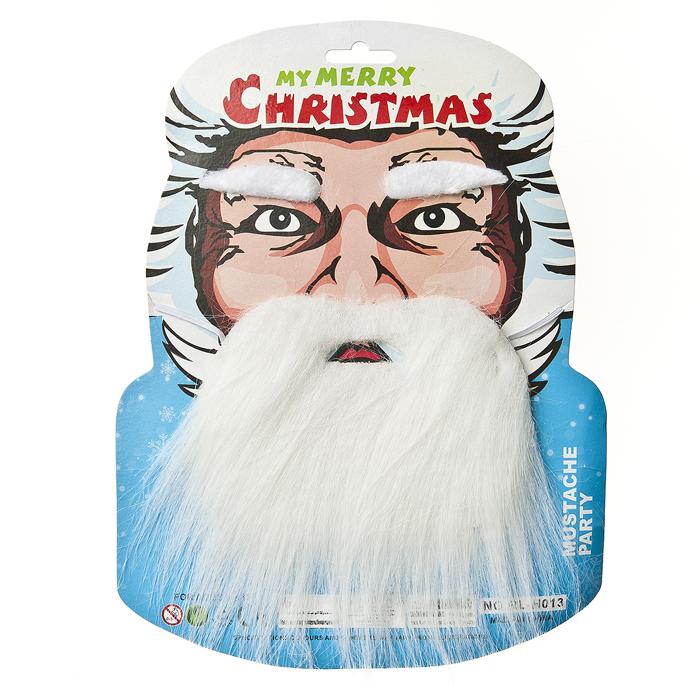 Маска карнавальная Lunten Ranta Борода69467Карнавальная маска Lunten Ranta представляет собой белую бороду на резинке и накладные белые брови, как у Деда Мороза. Такая маска великолепно дополнит образ вашего персонажа, подчеркнет его характер и сформирует облик в целом. Если у вас намечается веселая вечеринка или маскарад, то такая маска легко поможет создать праздничный наряд. Внесите нотку задора и веселья в ваш праздник. Веселое настроение и масса положительных эмоций будут обеспечены! Размер бороды: 14 см х 10 см. Размер бровей: 5,5 см х 1,5 см.