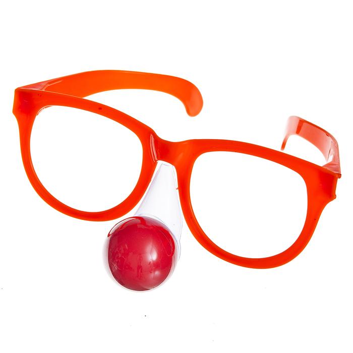 Очки карнавальные Lunten Ranta Смешные, цвет: оранжевый69471_1Большие карнавальные очки без линз Lunten Ranta Смешные помогут создать яркий маскарадный образ и подарят веселое праздничное настроение. Очки выполнены из пластика и оснащены клоунским носом с подсветкой. Если у вас намечается веселая вечеринка или маскарад, то такие очки легко помогут создать праздничную атмосферу. Внесите нотку задора и веселья в ваш праздник. Веселое настроение и масса положительных эмоций будут обеспечены!
