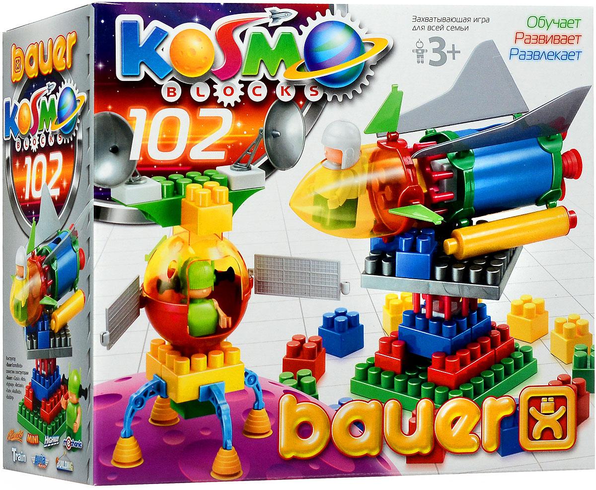 Bauer Конструктор KosmoBlocks 268268Конструктор Bauer KosmoBlocks содержит 102 ярких детали разных форм, цветов и размеров для сборки различных по сложности космических кораблей и другой космической техники. Конструктор прекрасно подходит для детского творчества и семейного отдыха, способствуют развитию объёмного мышления ребенка, фантазии, координации движения глаз, мелкой моторики и памяти. Все детали сделаны из высококачественного пластика с использованием пищевых красителей. Ребенок сможет часами играть с этим конструктором, придумывая разные истории и комбинируя детали. Конструктор Bauer KosmoBlocks адаптирован к программам дошкольного образования, и может быть использован как индивидуально, так и в коллективе.