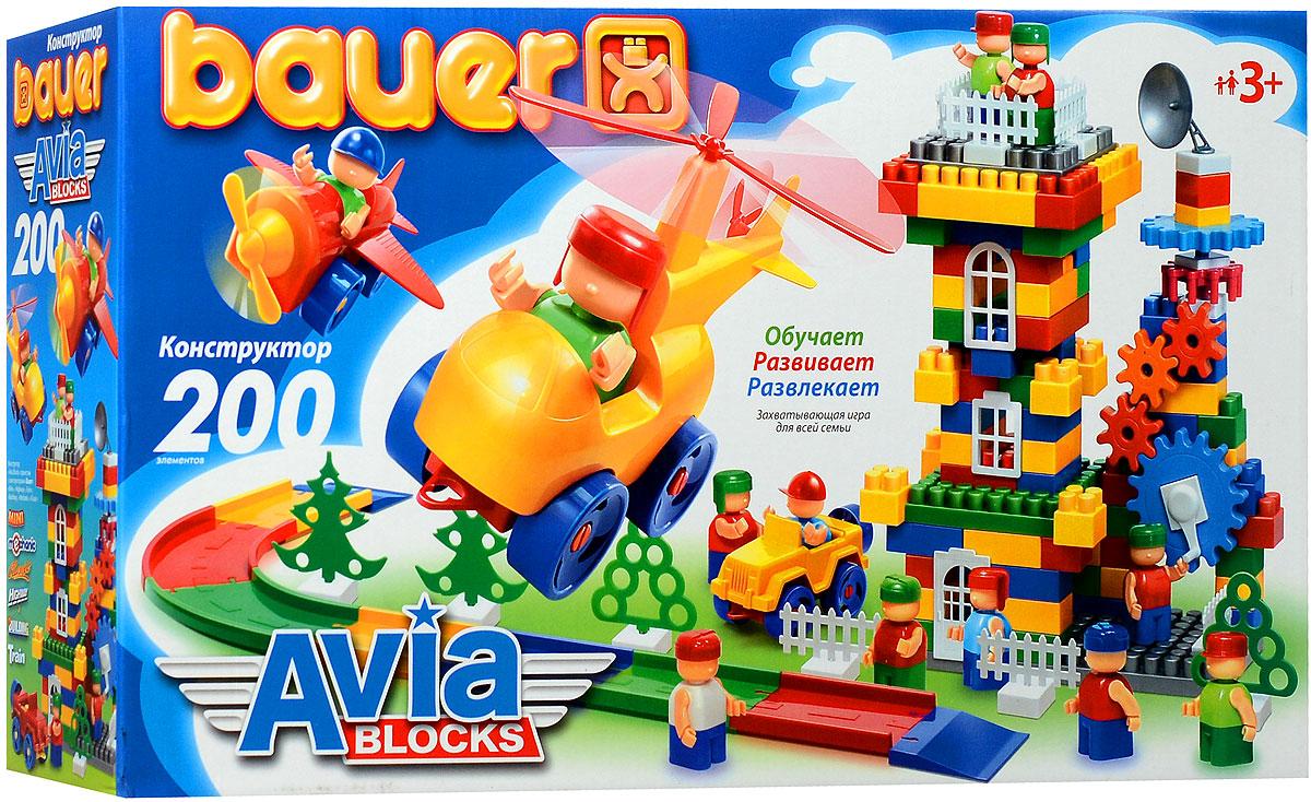 Bauer Конструктор AviaBlocks 246246Конструктор Bauer AviaBlocks содержит 200 ярких деталей различных форм, цветов и размеров для сборки самолетов, вертолетов, взлетных площадок и целого аэродрома. Конструктор прекрасно подходит для детского творчества и семейного отдыха, способствуют развитию объёмного мышления ребенка, фантазии, координации движения глаз, мелкой моторики и памяти. Все детали сделаны из высококачественного пластика с использованием пищевых красителей. Ребенок сможет часами играть с этим конструктором, придумывая разные истории и комбинируя детали. Конструктор Bauer AviaBlocks адаптирован к программам дошкольного образования, и может быть использован как индивидуально, так и в коллективе.