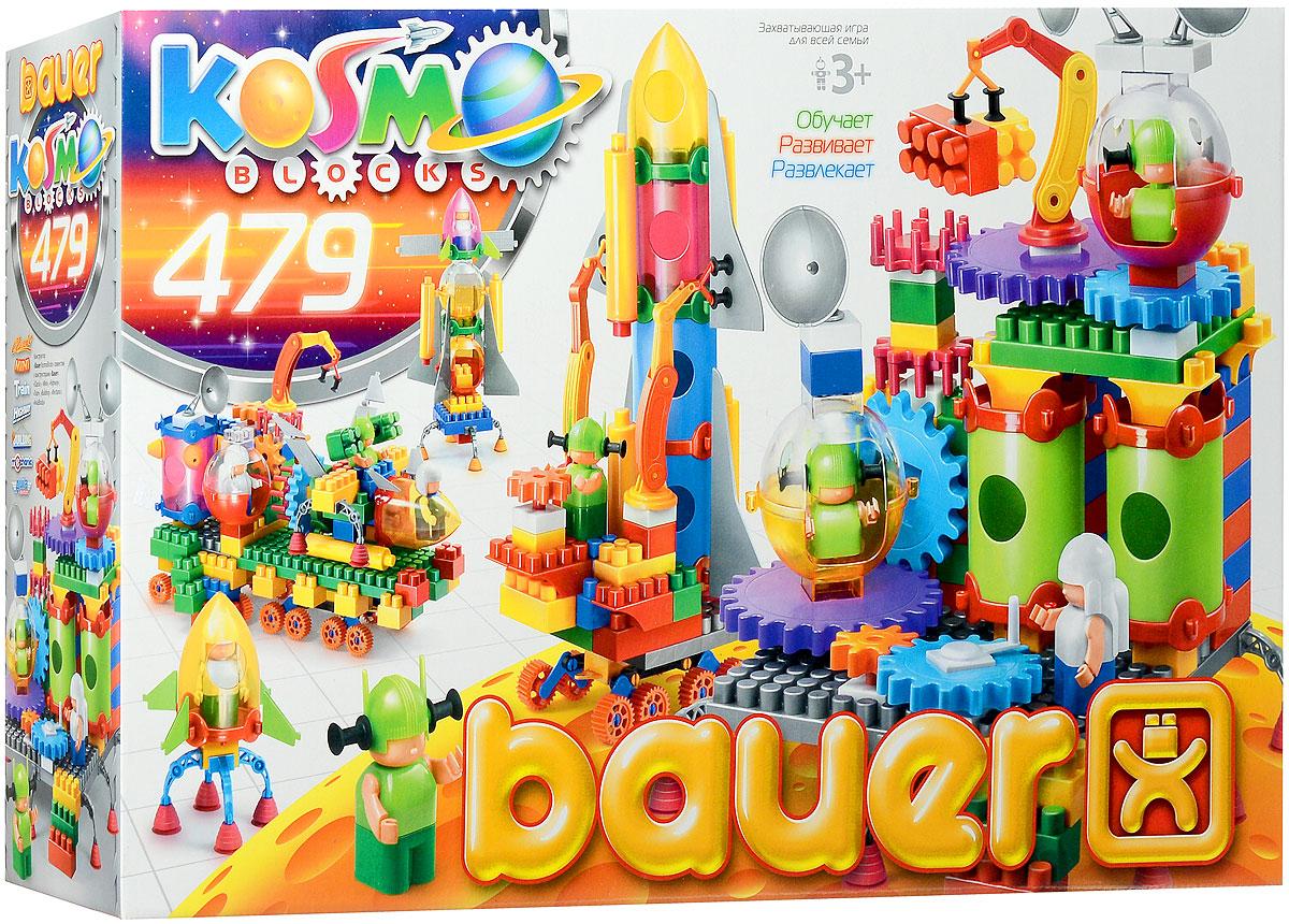 Bauer Конструктор KosmoBlocks 272272Конструктор Bauer KosmoBlocks содержит 479 ярких деталей разных форм, цветов и размеров для сборки космических кораблей и другой космической техники. Конструктор прекрасно подходит для детского творчества и семейного отдыха, способствуют развитию объёмного мышления ребенка, фантазии, координации движения глаз, мелкой моторики и памяти. Все детали сделаны из высококачественного пластика с использованием пищевых красителей. Ребенок сможет часами играть с этим конструктором, придумывая разные истории и комбинируя детали. Конструктор Bauer KosmoBlocks адаптирован к программам дошкольного образования, и может быть использован как индивидуально, так и в коллективе.
