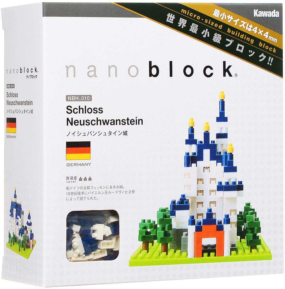 NanoBlock Мини-конструктор Замок НойшванштайнNBH_010Мини-конструктор Замок Нойшванштайн - увлекательнейший способ времяпрепровождения и уникальная возможность собрать целую коллекцию нано-моделей реальных знаменитых архитектурных объектов. Набор включает подставку, более 550 разноцветных пластиковых мини-элементов (в том числе запасные) и графическую инструкцию-схему сборки. Детали конструктора позволят собрать уменьшенную копию самого великолепного в мире замка Нойшванштайн. Подобно средневековым строителям, вы построите замок кирпичик за кирпичиком, начав с самого низа, затем этажи, окна, крыша и наконец закончите стройку установкой самых верхних башень. Замок Нойшванштайн — романтический замок баварского короля Людвига II около городка Фюссен и замка Хоэншвангау в юго-западной Баварии, недалеко от австрийской границы. Одно из самых популярных среди туристов мест на юге Германии. Конструктор nanoBlock - самый маленький в мире конструктор, крайне необычный, как все японское. Высокоточные трехмерные модели из...