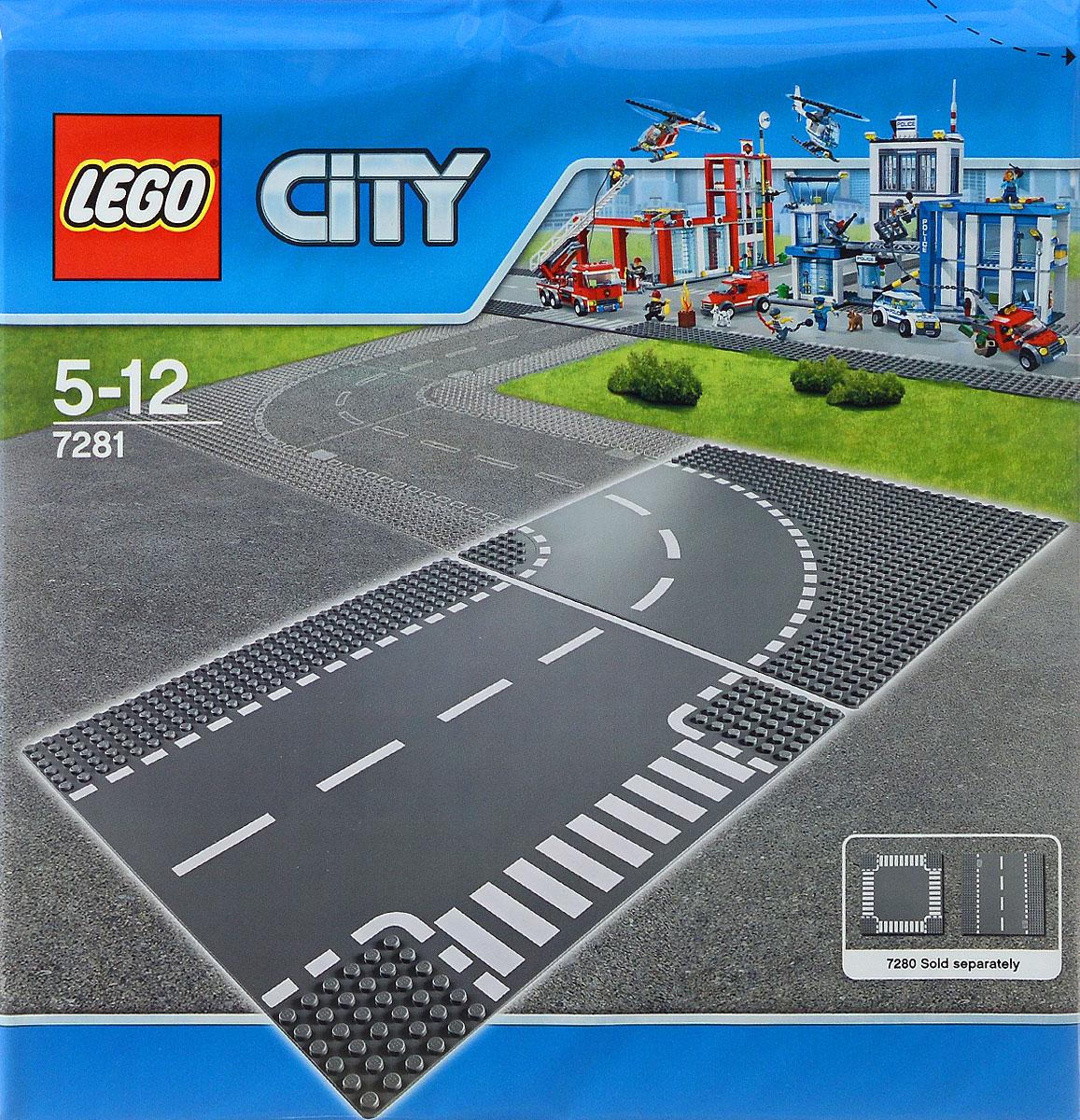LEGO City Конструктор Т-образная развязка 72817281Конструктор LEGO серии City Т-образная развязка предназначена специально для игр с машинками Lego. На пластину нанесена дорожная разметка. Пластина состоит из двух участков дороги. С помощью такой пластины можно создавать сложные трассы и превратить игру в настоящие приключения! В процессе игры с конструкторами LEGO дети приобретают и постигают такие необходимые навыки как познание, творчество, воображение. Обычные наблюдения за детьми показывают, что единственное, чему они с удовольствием посвящают время - это игры. Игра - это состояние души, это веселый опыт познания реальности. Играя, дети создают собственные миры, осваивают их, восстанавливают прошедшие и будущие события через понарошку, а, познавая, приобретают знания и умения. Фантазия ребенка безгранична, беря свое начало в детстве, она позволяет ребенку учиться представлять в уме, она помогает ему выражать свою индивидуальность, творить, давать форму или выражение чувствам, идеям, а это означает, что ребенок, несомненно,...