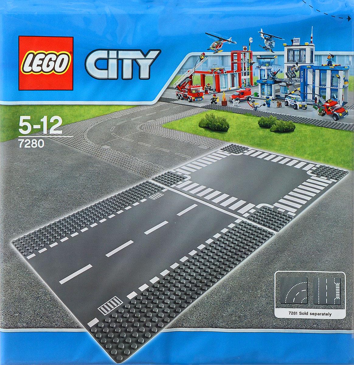 LEGO City Конструктор Перекресток 72807280Пластина Перекресток предназначена специально для игр с машинками Lego. На пластину нанесена дорожная разметка. Пластина состоит из двух участков: прямого участка дороги и Т-образного перекрестка. С помощью такой пластины можно создавать сложные трассы и превратить игру в настоящие приключения! В процессе игры с конструкторами LEGO дети приобретают и постигают такие необходимые навыки как познание, творчество, воображение. Обычные наблюдения за детьми показывают, что единственное, чему они с удовольствием посвящают время - это игры. Игра - это состояние души, это веселый опыт познания реальности. Играя, дети создают собственные миры, осваивают их, восстанавливают прошедшие и будущие события через понарошку, а, познавая, приобретают знания и умения. Фантазия ребенка безгранична, беря свое начало в детстве, она позволяет ребенку учиться представлять в уме, она помогает ему выражать свою индивидуальность, творить, давать форму или выражение чувствам, идеям, а это означает, что...