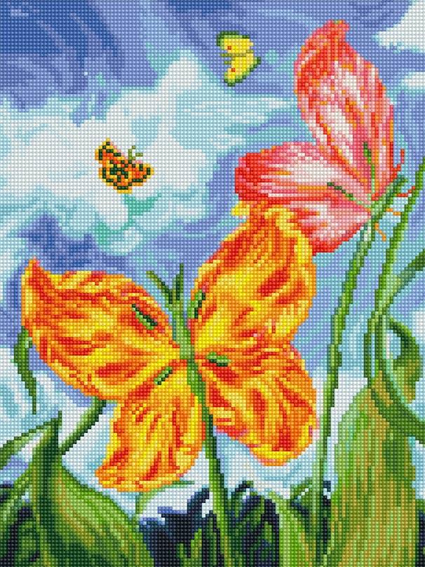 Мозаика на подрамнике Бабочки, 30 х 40 см180-ST-R БабочкиНабор для творчества Белоснежка Алмазная мозаика поможет вам создать свой личный шедевр - красивую картину, выполненную в мозаичной технике. Выложите прекрасную картину из множества маленьких цветных камушков. С помощью пинцета камушки размещаются на холсте, в результате проявляется рисунок. Постепенно заполняя ряд за рядом, вы создадите чудесное переливающееся изображение. Каждый камушек выполнен из прочного материала и огранен по типу драгоценных камней, при попадании на грани солнечного или искусственного света образуется мерцающее полотно. В набор входит: - основа картины - холст с нанесенной схемой на деревянном подрамнике, - комплект искусственных камней, - пинцет, - пластмассовый лоток для камней, - пластмассовый карандаш для камней, - жидкий клей. Количество цветов: 41. Диаметр камушка: 2,5 мм.