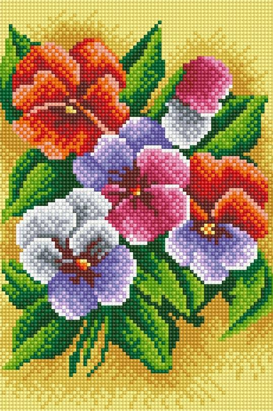 Набор для творчества Белоснежка Алмазная мозаика. Фиалки трехцветные, 20 х 30 см212-ST-R Фиалки трехцветныеНабор для творчества Белоснежка Алмазная мозаика поможет вам создать свой личный шедевр - красивую картину, выполненную в мозаичной технике. Выложите прекрасную картину из множества маленьких цветных камушков. С помощью пинцета камушки размещаются на холсте, в результате проявляется рисунок. Постепенно заполняя ряд за рядом, вы создадите чудесное переливающееся изображение. Каждый камушек выполнен из прочного материала и огранен по типу драгоценных камней, при попадании на грани солнечного или искусственного света образуется мерцающее полотно. В набор входит: - основа картины - холст с нанесенной схемой на деревянном подрамнике, - комплект искусственных камней, - пинцет, - пластмассовый лоток для камней, - пластмассовый карандаш для камней, - жидкий клей. Количество цветов: 22. Диаметр камушка: 2,5 мм.
