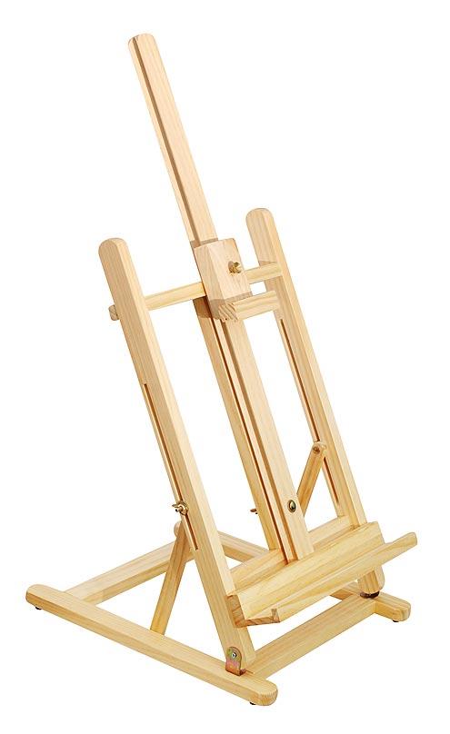 50-BS Мольберт настольный 34х38х108 см50-BS Мольберт настольный 34х38х108cmМольберт с выдвижной мачтой, регулировкой по высоте и углом наклона. Работа фиксируется с помощью нижнего упора и подвижного верхнего зажима - бегунка. Мольберт предназначен для работ не более 60 см. по высоте