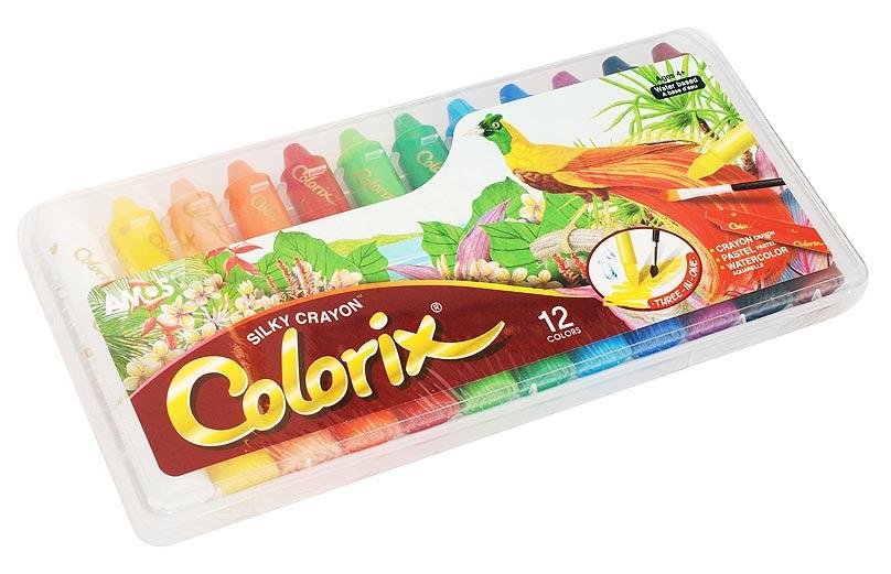 Набор Colorix. Мелки-пастель-акварель (12 цветов)CRX5PC12 Цв.карандаши 3в1 12 цветов, d=12mmНабор 3 в 1: Мелки, чтобы создать яркую плотную текстуру, Пастель - чтобы смешивать оттенки (растушуйте пальцами), Краски - чтобы рисовать акварелью (возьмите кисточку и воду). Вы сами выбираете способ рисования, всё это в одном твистере. L=10.5см,D=1.8см; стержень L=4.7см, D=1.2см