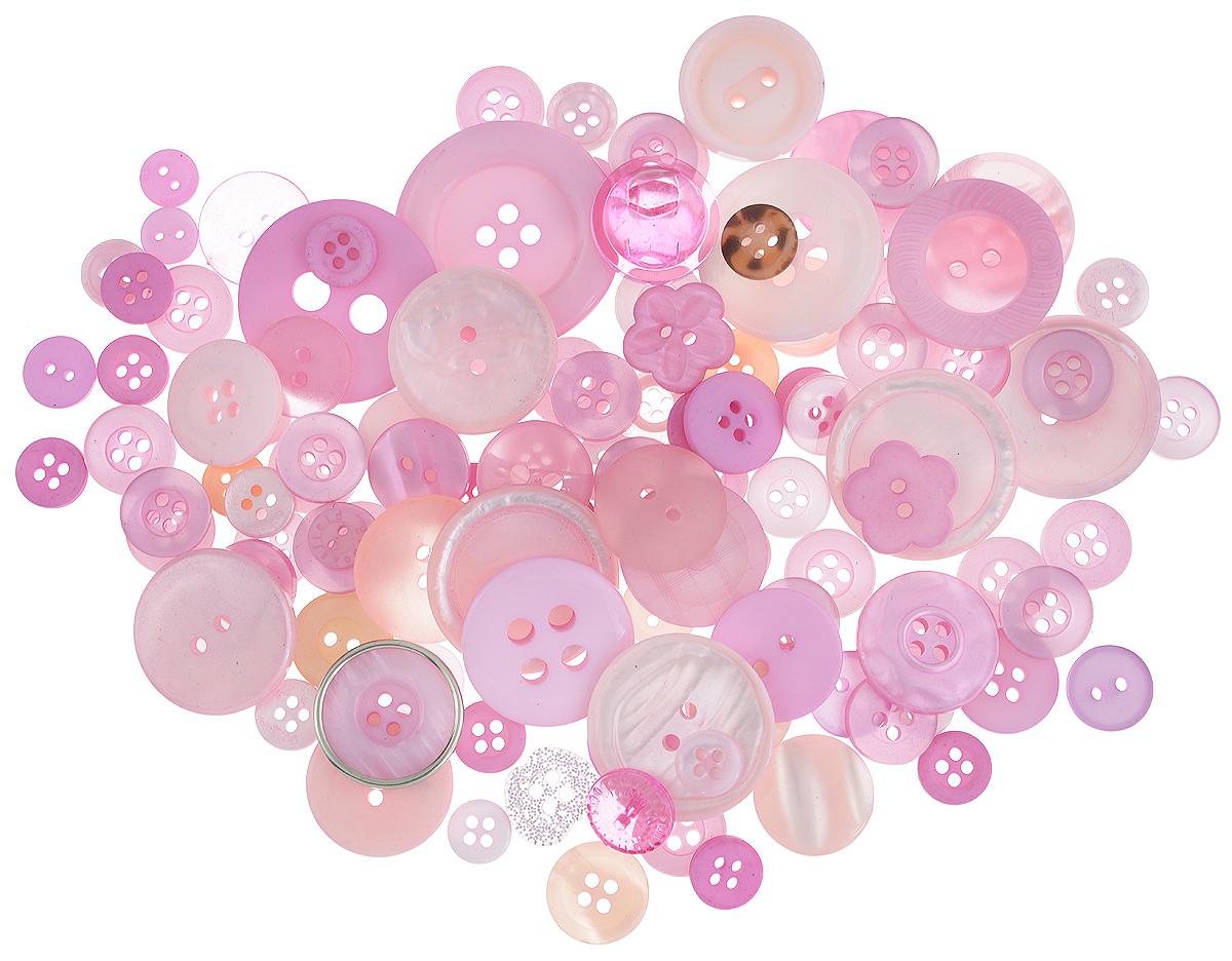 Пуговицы декоративные Buttons Galore & More Color Blends, цвет: клубничный, 85 г. 77088797708879_КлубничныйНабор пуговиц для творчества и декорирования одежды Buttons Galore & More Color Blends изготовлен из высококачественного пластика. В набор входят пуговицы различных размеров и с разным количеством отверстий. Такие пуговицы подходят для любых видов творчества: скрапбукинга, декорирования, шитья, изготовления кукол, а также для оформления одежды. С их помощью вы сможете украсить открытку, фотографию, альбом, подарок и другие предметы ручной работы. Пуговицы имеют оригинальный и яркий дизайн. Средний диаметр пуговиц: 2 см.