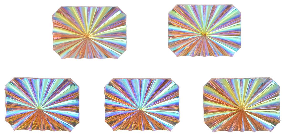 Пуговицы декоративные Астра Кристалл, цвет: оранжевый, 25 мм х 18 мм, 5 шт7708649Набор Астра Кристалл, изготовленный из пластика, состоит из 5 прямоугольных декоративных пуговиц с рельефной перламутровой поверхностью. С помощью них вы сможете украсить одежду, подарок, открытку, фотографию, альбом и другие предметы ручной работы. Такие пуговицы станут незаменимым элементом в создании рукотворного шедевра. Размер пуговицы: 25 мм х 18 мм.
