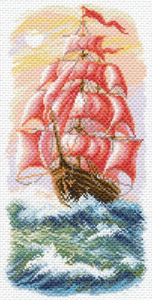 Канва с рисунком для вышивания Алые паруса, 18 х 36 см549842Канва с рисунком для вышивания Алые паруса изготовлена из хлопка. Рисунок-вышивка, выполненный на такой канве, выглядит очень оригинально. Вышивка выполняется в технике полный крестик в 2-3 нити или полукрестом в 4 нити. Вышивание отвлечет вас от повседневных забот и превратится в увлекательное занятие! Работа, сделанная своими руками, создаст особый уют и атмосферу в доме и долгие годы будет радовать вас и ваших близких. Рекомендуемое количество цветов: 22. Размер канвы: 24 см х 47 см. Нитки в комплект не входят.