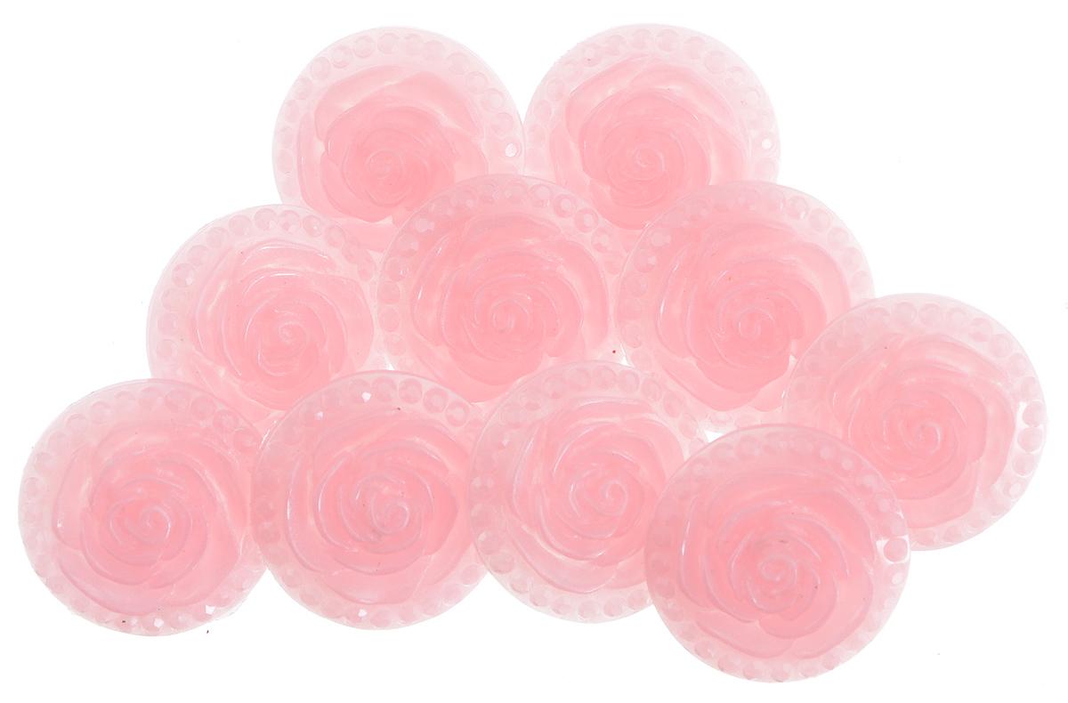 Пуговицы декоративные Астра Розочки, цвет: светло-розовый (8), диаметр 18 мм, 10 шт7708633_8Набор Астра Розочки, изготовленный из пластика, состоит из 10 круглых декоративных пуговиц в виде роз. С помощью них вы сможете украсить одежду, подарок, открытку, фотографию, альбом и другие предметы ручной работы. Такие пуговицы станут незаменимым элементом в создании рукотворного шедевра. Диаметр пуговицы: 18 мм.