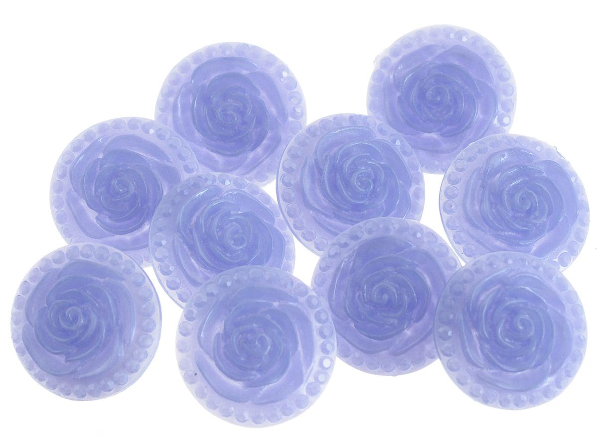 Пуговицы декоративные Астра Розочки, цвет: темно-синий (30), диаметр 18 мм, 10 шт7708633_30Набор Астра Розочки, изготовленный из пластика, состоит из 10 круглых декоративных пуговиц в виде роз. С помощью них вы сможете украсить одежду, подарок, открытку, фотографию, альбом и другие предметы ручной работы. Такие пуговицы станут незаменимым элементом в создании рукотворного шедевра. Диаметр пуговицы: 18 мм.