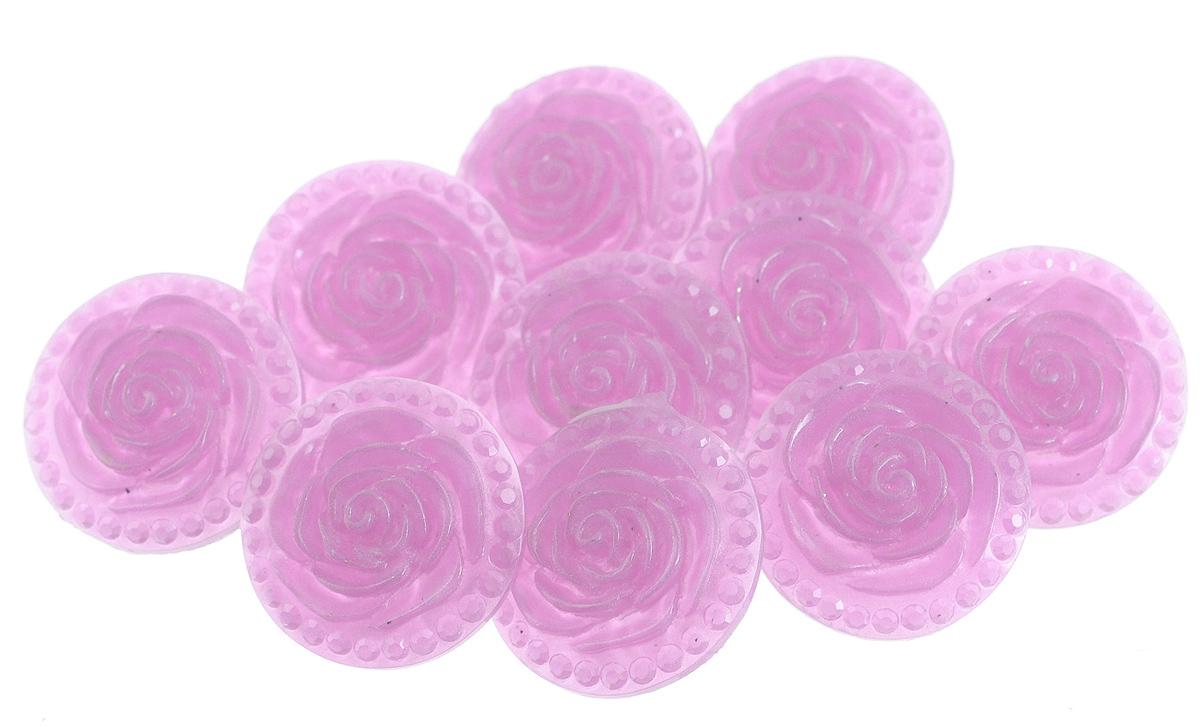 Пуговицы декоративные Астра Розочки, цвет: розово-сиреневый (4), диаметр 18 мм, 10 шт7708633_4Набор Астра Розочки, изготовленный из пластика, состоит из 10 круглых декоративных пуговиц в виде роз. С помощью них вы сможете украсить одежду, подарок, открытку, фотографию, альбом и другие предметы ручной работы. Такие пуговицы станут незаменимым элементом в создании рукотворного шедевра. Диаметр пуговицы: 18 мм.