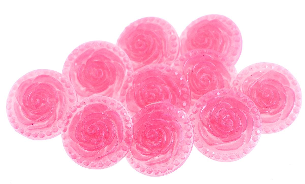 Пуговицы декоративные Астра Розочки, цвет: розовый (10), диаметр 18 мм, 10 шт7708633_10Набор Астра Розочки, изготовленный из пластика, состоит из 10 круглых декоративных пуговиц в виде роз. С помощью них вы сможете украсить одежду, подарок, открытку, фотографию, альбом и другие предметы ручной работы. Такие пуговицы станут незаменимым элементом в создании рукотворного шедевра. Диаметр пуговицы: 18 мм.