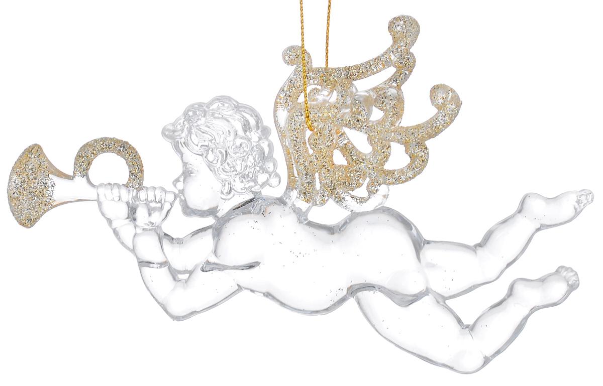 Новогоднее подвесное украшение Феникс-презент Музыкальные ангелочки, 11,5 х 8,5 см38590Подвесное украшение Феникс-презент Музыкальные ангелочки, выполненное из прозрачного пластика, прекрасно подойдет для праздничного декора вашей ели. Оригинальное новогоднее украшение в виде ангела оформлено блестками. С помощью специальной петельки его можно повесить в любом понравившемся вам месте. Но, конечно, удачнее всего такая игрушка будет смотреться на праздничной елке. Елочная игрушка - символ Нового года и Рождества. Она несет в себе волшебство и красоту праздника. Создайте в своем доме атмосферу веселья и радости, украшая новогоднюю елку нарядными игрушками, которые будут из года в год накапливать теплоту воспоминаний.