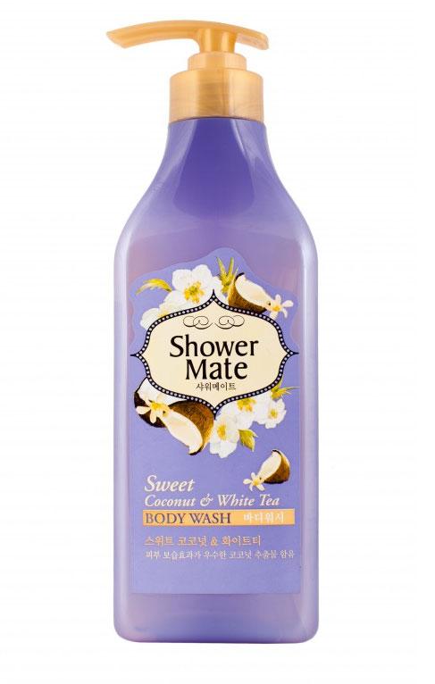 Shower Mate Гель для душа Кокос и белый чай, 550 г876763_Кокос и белый чайГель для душа Shower Mate Кокос и белый чай обладает превосходным увлажняющим эффектом благодаря чему поможет сохранить вашу кожу мягкой и увлажненной .Богатый витаминами и минералами, белый чай очищает кожу и дарит ей здоровый, сияющий вид. Сладкий аромат кокоса и свежий аромат белого чая создают ощущение комфорта.