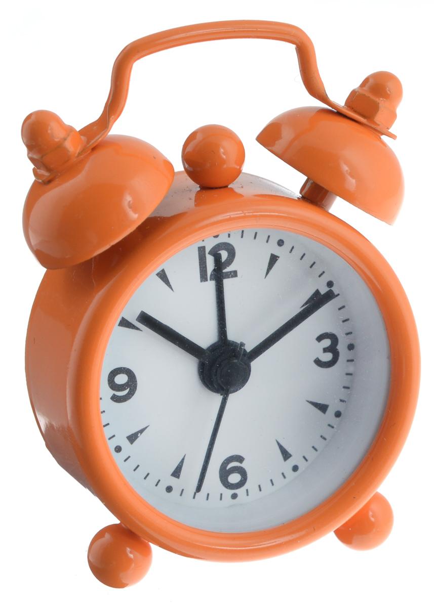 Часы-будильник Sima-land, цвет: оранжевый. 11038981103898_оранжевыйКак же сложно иногда вставать вовремя! Всегда так хочется поспать еще хотя бы 5 минут и бывает, что мы просыпаем. Теперь этого не случится! Яркий, оригинальный будильник Sima-land поможет вам всегда вставать в нужное время и успевать везде и всюду. Будильник украсит вашу комнату и приведет в восхищение друзей. Эта уменьшенная версия привычного будильника умещается на ладони и работает так же громко, как и привычные аналоги. Время показывает точно и будит в установленный час. На задней панели будильника расположены переключатель включения/выключения механизма, а также два колесика для настройки текущего времени и времени звонка будильника. Будильник работает от 1 батарейки типа LR44 (входит в комплект).