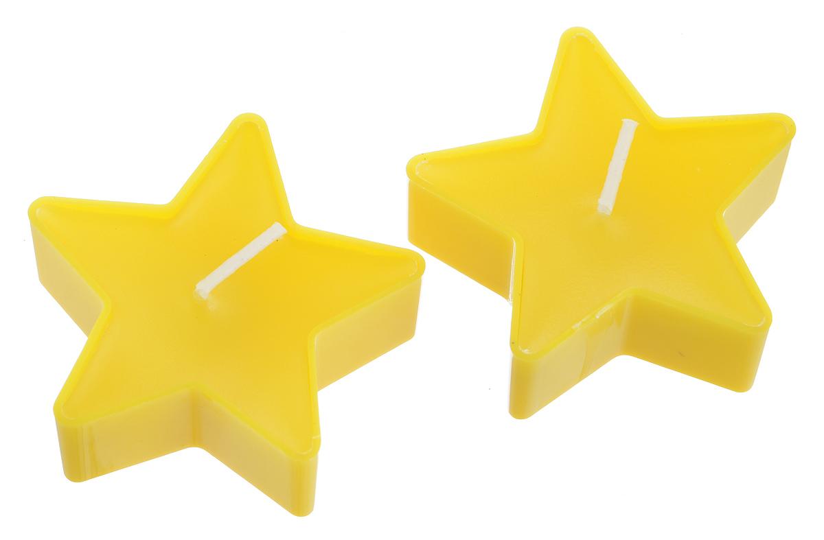 Набор свечей Lunten Ranta Яркие звезды, цвет: желтый, 5 см х 5 см х 2 см, 2 шт67759_2Набор Lunten Ranta Яркие звезды состоит из 2 свечей в форме звезд, изготовленных из парафина. Такой набор украсит интерьер вашего дома или офиса и наполнит его атмосферу теплом и уютом. Размер: 5 см х 5 см х 2 см.