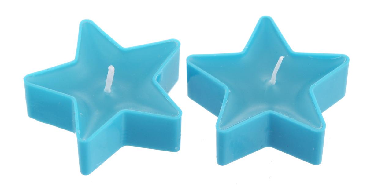 Набор свечей Lunten Ranta Яркие звезды, цвет: голубой, 5 х 5 х 2 см, 2 шт67759_3Набор Lunten Ranta Яркие звезды состоит из 2 свечей в форме звезд, изготовленных из парафина. Такой набор украсит интерьер вашего дома или офиса и наполнит его атмосферу теплом и уютом. Размер: 5 см х 5 см х 2 см.