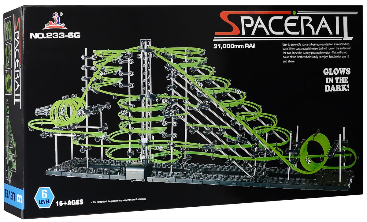 Space Rail Конструктор Glow In The Dark уровень 6 310 см233-6GКонструктор Space Rail - космическая трасса, представляет собой отличную пространственную головоломку, которая увлечет всю семью от мала до велика! Процесс сборки доставит удовольствие и детям, и родителям, а запуск космической трассы приведет всех в восторг. Вы сможете построить захватывающие дороги и сами задать траектории, по которым стремительно будут проноситься металлические шарики. Это интереснейший аттракцион, напоминающий американские горки, за которым можно наблюдать часами. Особенностью данного конструктора является наличие светящейся в темноте трассы. Сборка конструктора поможет ребенку развить пространственное мышление и фантазию. Собранная модель станет изюминкой вашего дома и привлечет внимание окружающих. Вы и ваш ребенок сможете гордиться тем, что самостоятельно собрали такой аттракцион. Длина трассы: 310 см. Для работы игрушки необходима 1 батарейка типа С (не входит в комплект).