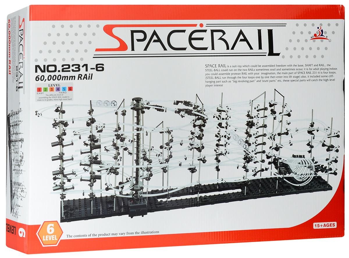 Space Rail Конструктор Уровень 6231-6Конструктор Space Rail - космическая трасса, представляет собой отличную пространственную головоломку, которая увлечет всю семью от мала до велика! Процесс сборки доставит удовольствие и детям, и родителям, а запуск космической трассы приведет всех в восторг. Вы сможете построить захватывающие дороги и сами задать траектории, по которым стремительно будут проноситься металлические шарики. Это интереснейший аттракцион, напоминающий американские горки, за которым можно наблюдать часами. Сборка конструктора поможет ребенку развить пространственное мышление и фантазию. Собранная модель станет изюминкой вашего дома и привлечет внимание окружающих. Вы и ваш ребенок сможете гордиться тем, что самостоятельно собрали такой аттракцион. Длина трассы: 6000 см. Для работы игрушки необходима 1 батарейка типа С (не входит в комплект).