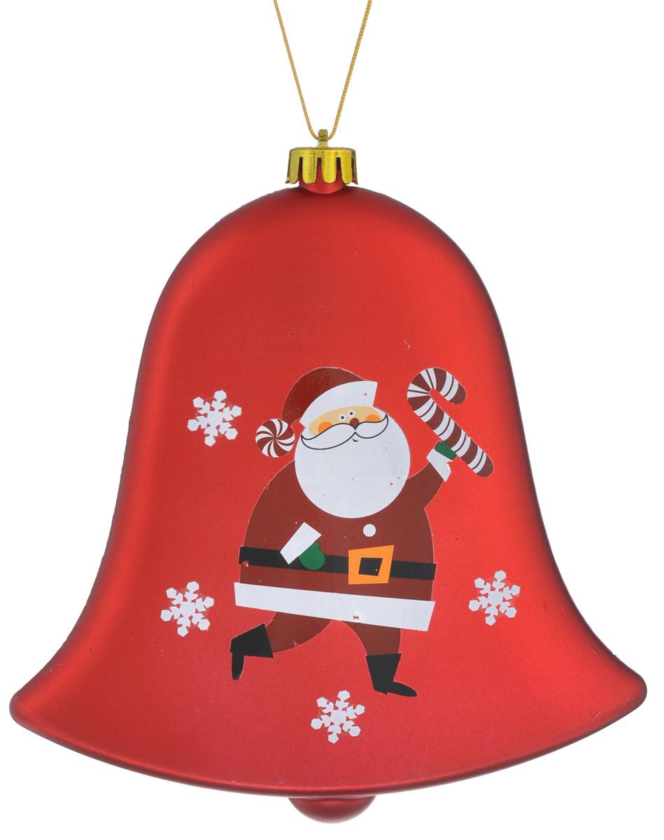 Новогоднее подвесное украшение Lunten Ranta Колокол, цвет: красный, белый, 14,5 х 15 х 3 см59065_красныйНовогоднее подвесное украшение Lunten Ranta Колокол выполнено из пластика в форме колокола и оформлено изображением Санта-Клауса. С помощью специальной петельки украшение можно повесить в любом понравившемся вам месте. Но, конечно, удачнее всего оно будет смотреться на праздничной елке. Размер: 14,5 см х 15 см х 3 см.