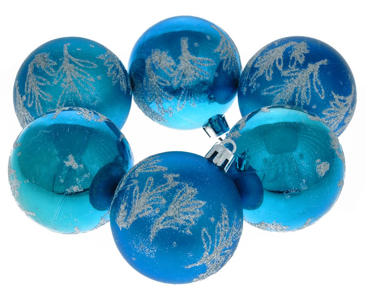 Набор новогодних подвесных украшений Lunten Ranta Новогодний салют, цвет: синий, серебристый, диаметр 6 см, 6 шт65338Набор новогодних подвесных украшений Lunten Ranta Новогодний салют прекрасно подойдет для праздничного декора новогодней ели. Набор состоит из 6 пластиковых украшений в виде матовых и глянцевых шаров, украшенных блестками. Для удобного размещения на елке для каждого украшения предусмотрена петелька. Елочная игрушка - символ Нового года. Она несет в себе волшебство и красоту праздника. Создайте в своем доме атмосферу веселья и радости, украшая новогоднюю елку нарядными игрушками, которые будут из года в год накапливать теплоту воспоминаний. Откройте для себя удивительный мир сказок и грез. Почувствуйте волшебные минуты ожидания праздника, создайте новогоднее настроение вашим дорогим и близким.