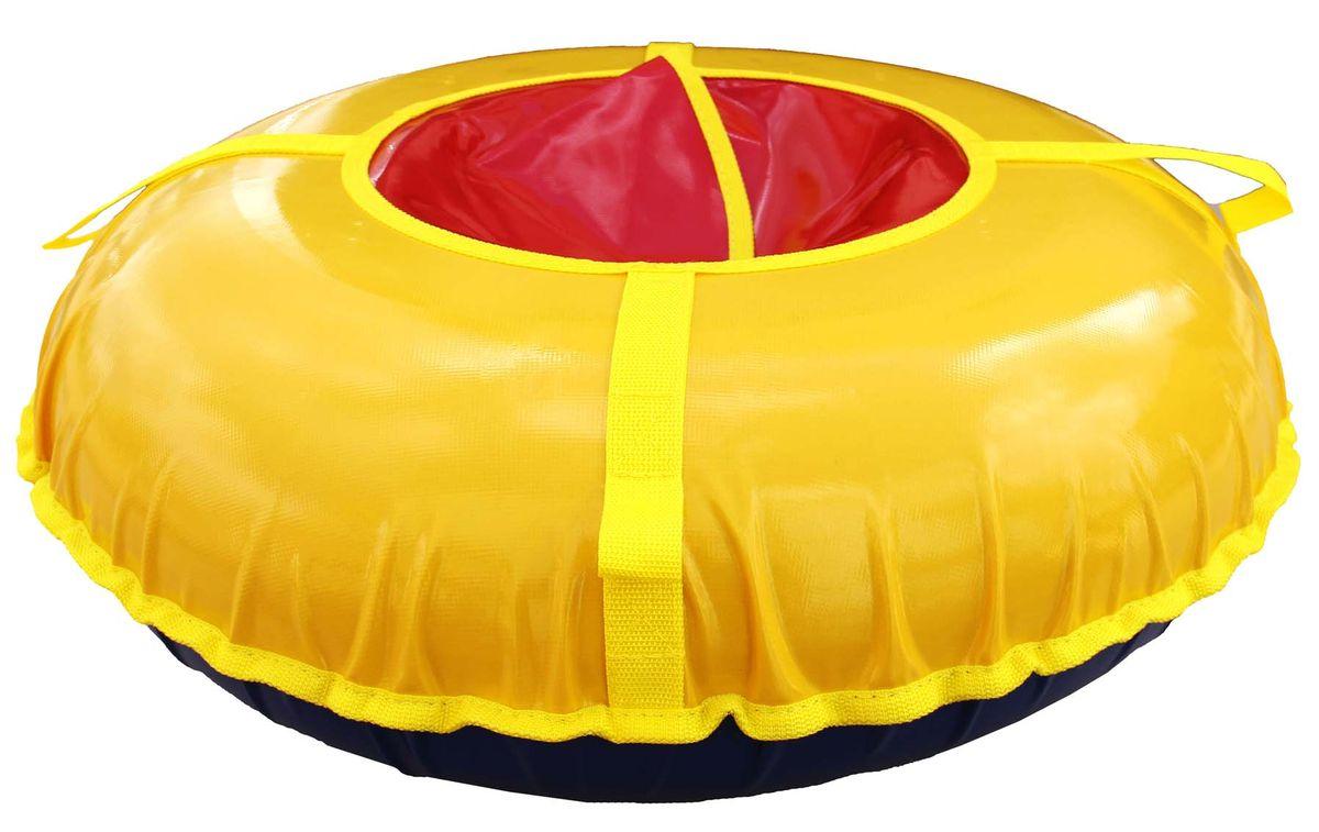"""Super Jet Tubing Сани надувные """"Super Jet Tubing"""" Turbo, диаметр в надутом состоянии 95 см, цвет: желтый, красный, Арт. SJT-95TT"""