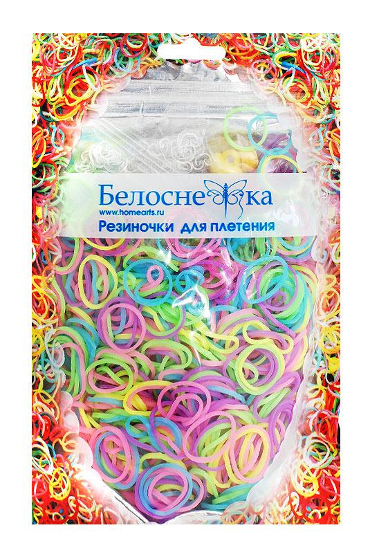 Белоснежка Резиночки для плетения 1000шт цвет 5 цветов101-RB Резиночки (1000 шт) 5 цветов