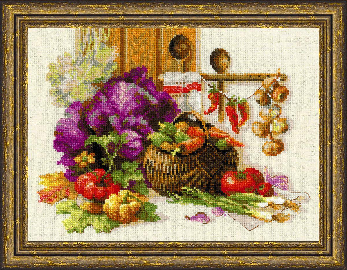 Набор для вышивания крестом Riolis Богатый урожай, 40 x 30 см1544Набор для вышивания Riolis Богатый урожай поможет вам создать свой личный шедевр - красивую картину, вышитую нитками в технике счетный крест. Работа, выполненная своими руками, станет отличным подарком для друзей и близких! Набор содержит: - льняная канва Zweigart Aida 10; - нитки шерсть / акрил Safil (30 цветов); - игла; - цветная схема. УВАЖАЕМЫЕ КЛИЕНТЫ! Обращаем ваше внимание на то, что рамка в комплект не входит, а служит для визуального восприятия товара.