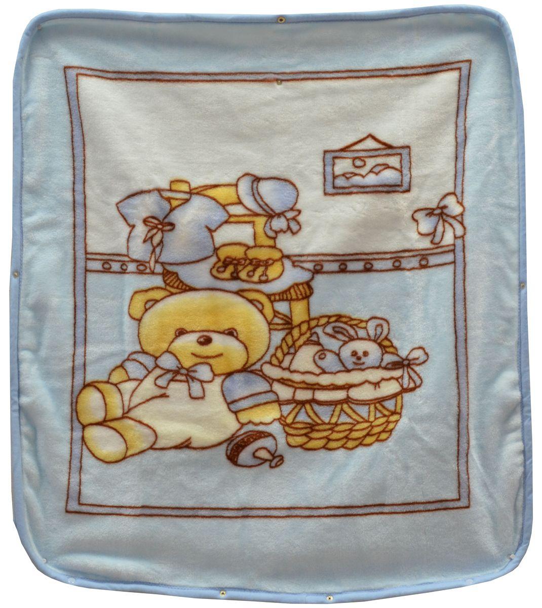 Bonne Fee Плед детский Плед-накидка для младенцев на молнии, 80 х 90 см, голубойОНДК/300-гол1Защита, тепло и комфорт для малышей - использован надёжный, качественный и мягкий материал! Удобство и спокойствие для родителей обеспечивается универсальностью пледа-накидки, конструкция которого позволяет ему легко превращаться в конвертик. Отличное качество и практичность! Любите своего ребёнка и дарите ему лучшее!