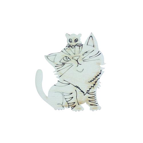 Деревянная заготовка Кошки-мышки 7*6см (L-386) Астра487000