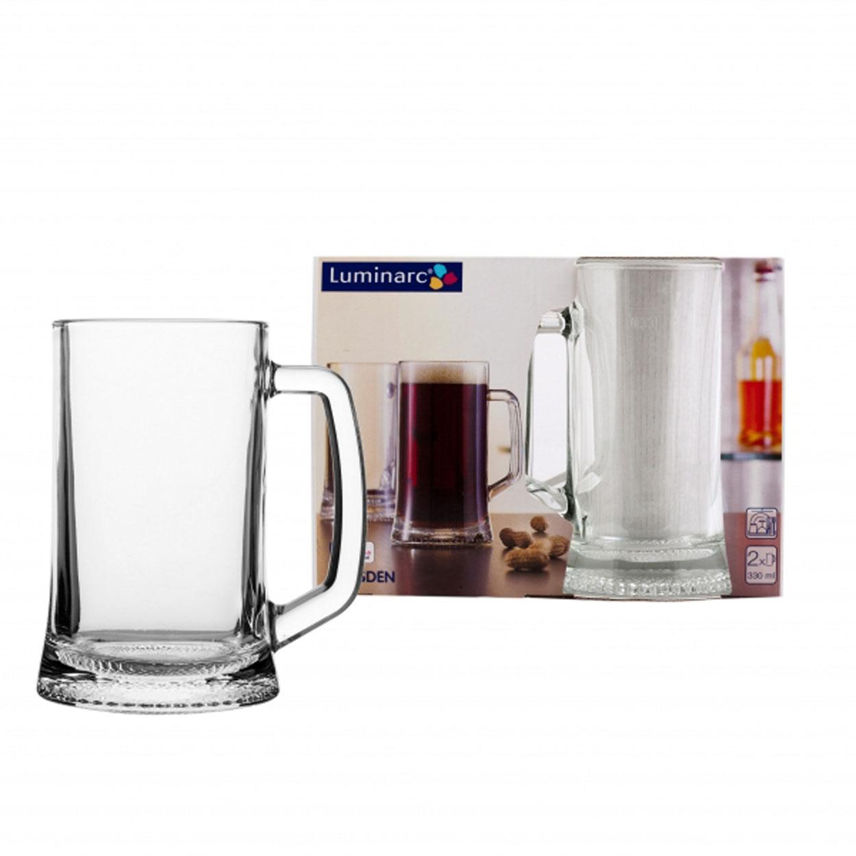 Набор кружек для пива 2 шт, 330 мл Дрезден H5112H5112