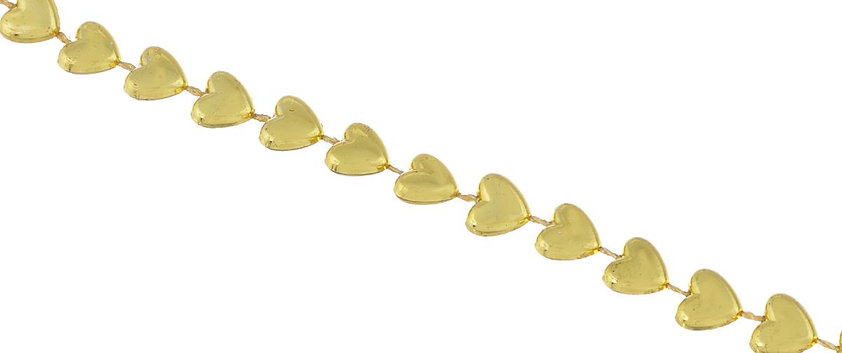 Новогоднее украшение Lunten Ranta Бусы. Сердечки, цвет: золотистый, длина 2 м65564Новогоднее украшение Lunten Ranta Бусы. Сердечки, изготовленные из высококачественного пластика, прекрасно подойдут для декора дома или новогодней ели. Новогодние бусы создают сказочную атмосферу и дарят ощущение праздника. Откройте для себя удивительный мир сказок. Почувствуйте волшебные минуты ожидания праздника, создайте новогоднее настроение вашим дорогим и близким.