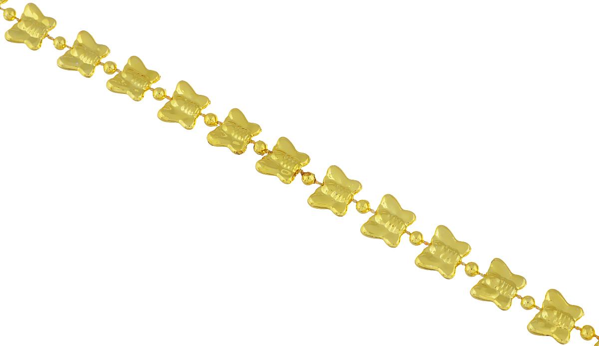 Новогоднее украшение Lunten Ranta Бусы. Бабочки, цвет: золотистый, длина 2 м65624Новогоднее украшение Lunten Ranta Бусы. Бабочки, изготовленные из высококачественного пластика, прекрасно подойдут для декора дома или новогодней ели. Новогодние бусы создают сказочную атмосферу и дарят ощущение праздника. Откройте для себя удивительный мир сказок. Почувствуйте волшебные минуты ожидания праздника, создайте новогоднее настроение вашим дорогим и близким.