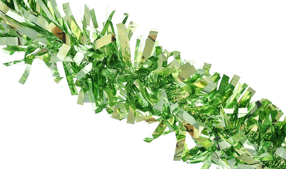 Мишура новогодняя Феникс-презент Magic Time, цвет: светло-зеленый, диаметр 9 см, длина 200 см. 3818738187Мишура новогодняя Феникс-презент Magic Time, выполненная из ПЭТ (полиэтилентерефталата), поможет вам украсить свой дом к предстоящим праздникам. Мишура армирована, то есть имеет проволоку внутри и способна сохранять приданную ей форму. Новогодняя елка с таким украшением станет еще наряднее. Новогодней мишурой можно украсить все, что угодно - елку, квартиру, дачу, офис - как внутри, так и снаружи. Можно сложить новогодние поздравления, буквы и цифры, мишурой можно украсить и дополнить гирлянды, можно выделить дверные колонны, оплести дверные проемы.