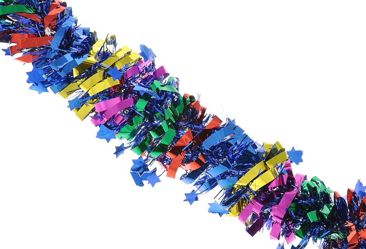 Мишура новогодняя Феникс-презент Magic Time, цвет: синий, красный, зеленый, диаметр 8 см, длина 200 см. 3817838178Мишура новогодняя Феникс-презент Magic Time, выполненная из ПЭТ (полиэтилентерефталата), поможет вам украсить свой дом к предстоящим праздникам. Мишура армирована, то есть имеет проволоку внутри и способна сохранять приданную ей форму. Новогодняя елка с таким украшением станет еще наряднее. Новогодней мишурой можно украсить все, что угодно - елку, квартиру, дачу, офис - как внутри, так и снаружи. Можно сложить новогодние поздравления, буквы и цифры, мишурой можно украсить и дополнить гирлянды, можно выделить дверные колонны, оплести дверные проемы.